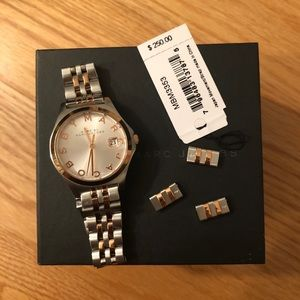MARC JACOBS Silver and rose gold watch